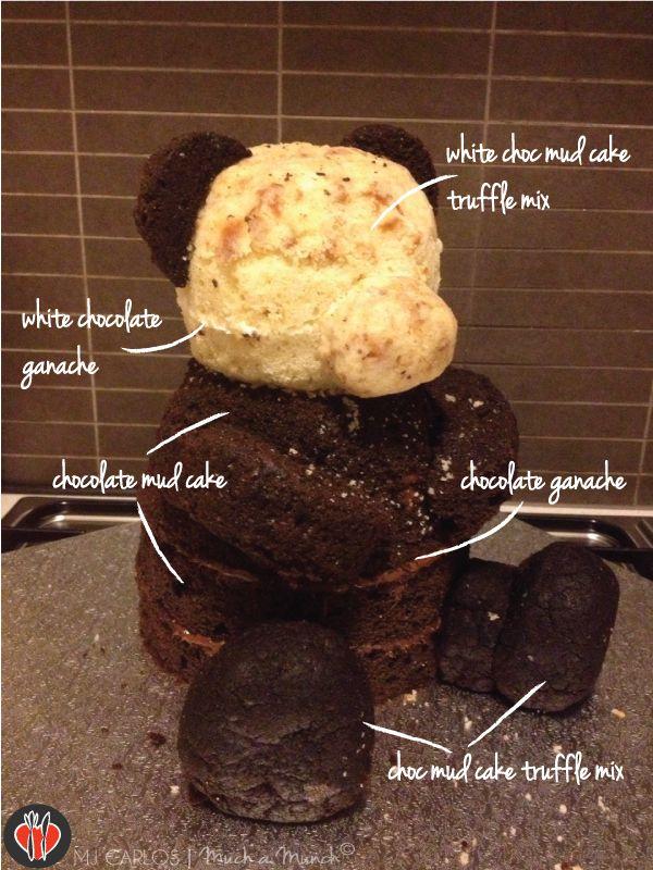 3d teddy bear cake easy video tutorial pinterest teddy for Panda bear cake template