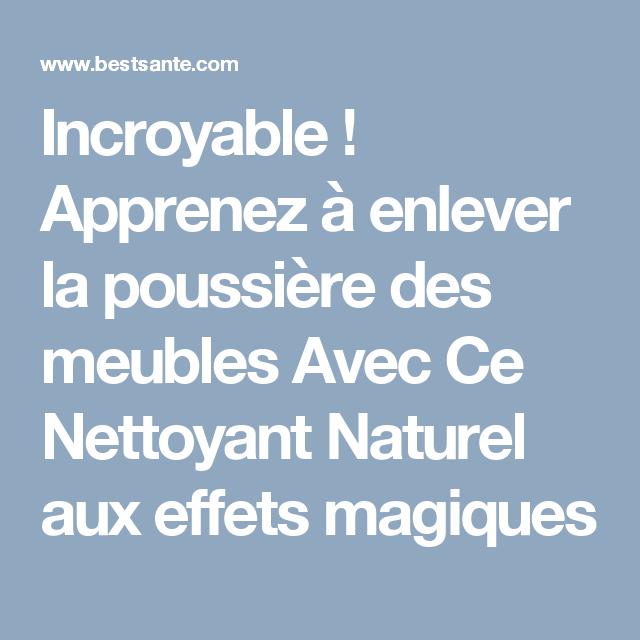 ... Enlever La Poussiere Sur Les Meubles #5: Apprenez à Enlever La Poussière  Des Meubles ...