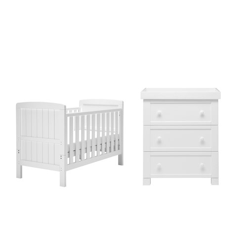 Harriet Bee Paxton Cot Bed 2 Piece Nursery Furniture Set In