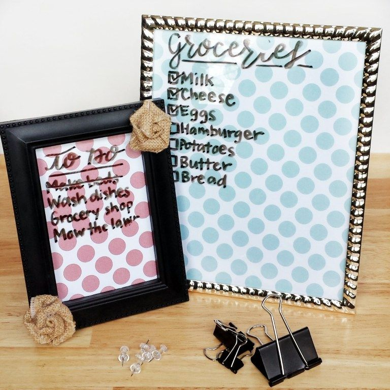 Diy dry erase frames using a picture frame diy dry erase