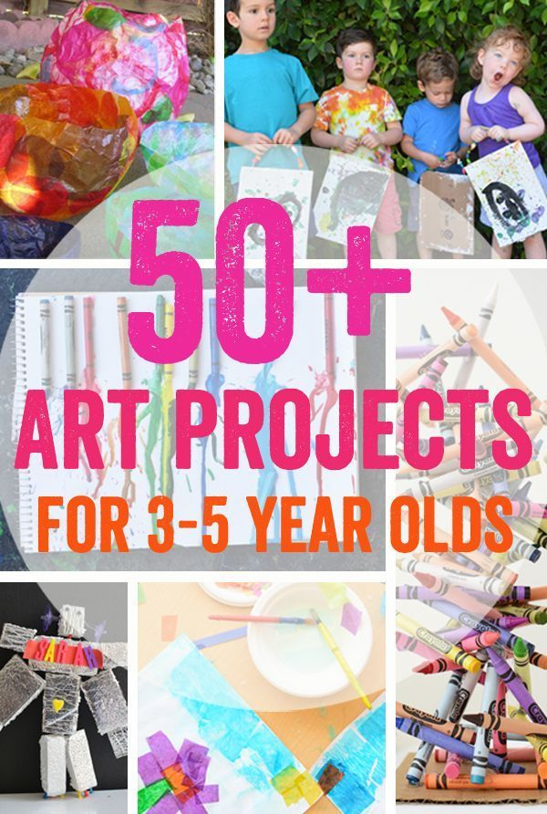 50 Art Projects For 3 5 Year Olds Arts Crafts