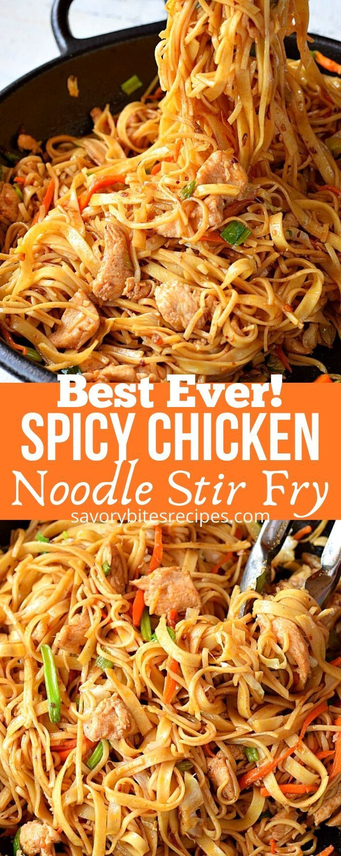 Best Chicken Noodle Stir Fry Recipe Noodle Recipes Easy Spicy Chicken Noodles Chicken Stir Fry With Noodles