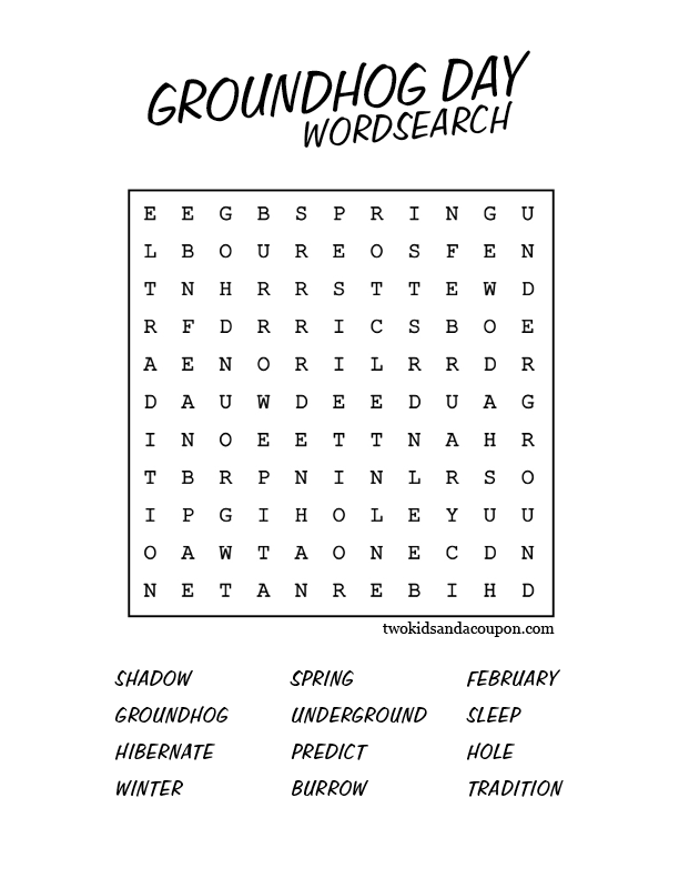 photo about Free Printable Groundhog Day Worksheets identify Totally free Printable Groundhog Working day Term Glance Youngster crafts