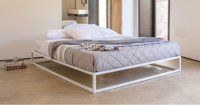 Mondrian Metal Platform Bed No Headboard Metal Platform Bed Bed Decor Cool Beds