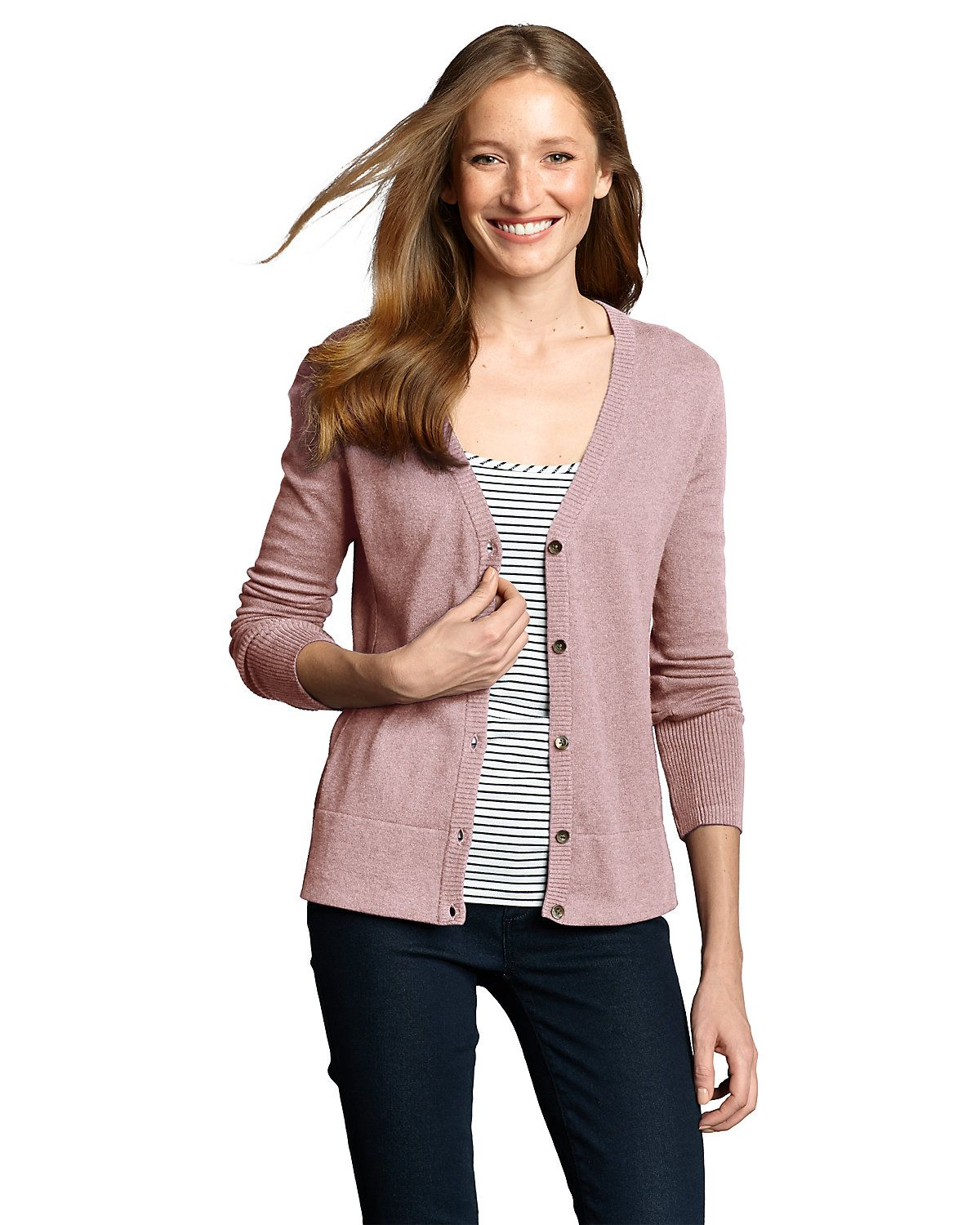 Women's Christine V-neck Cardigan Sweater - Solid | Eddie Bauer ...