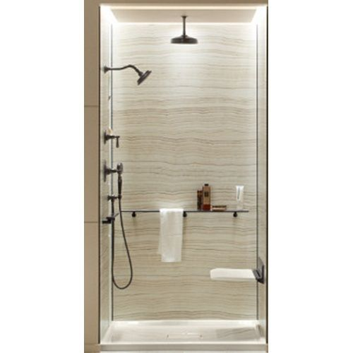 Beautiful Kohler K97614 W08 Choreograph Shower Wall Kit Tub/Shower Wall Kit   Veincut  Biscuit