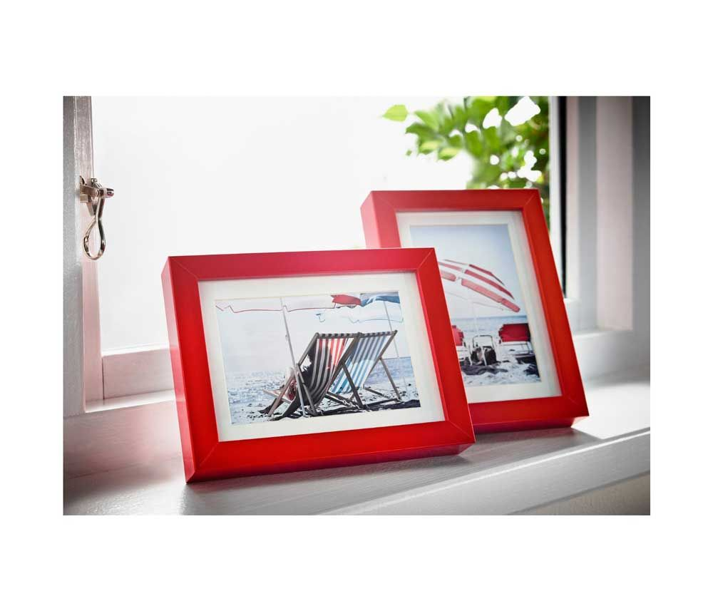 Ikea Ribba Red Wooden Picture Frame 4 x 6 inch Set of 2 Art Picture ...