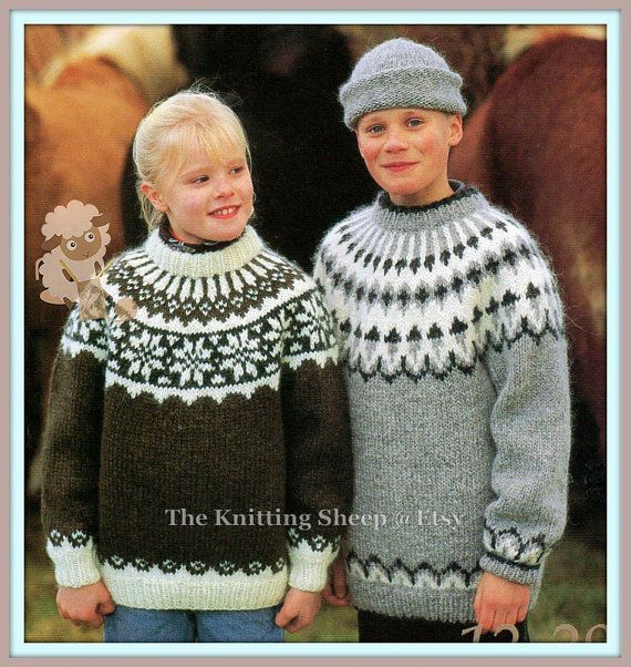 PDF Knitting Pattern - Ladies or Childs Yoked Nordic - Fair Isle ...
