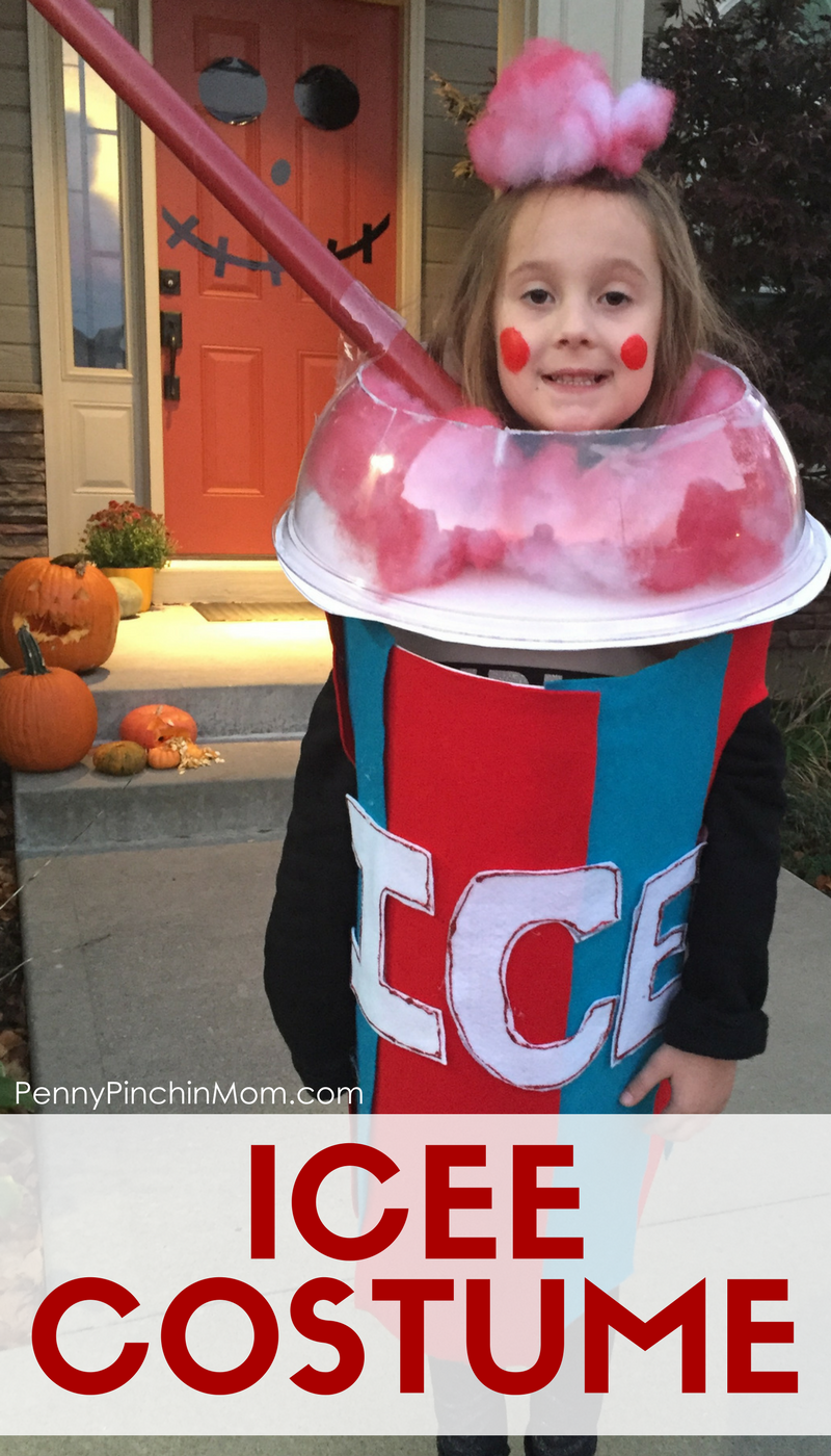 582f97a87 DIY Halloween Costume Idea - Icee! Super easy to make and absolutely  adorable! Halloween costumes for kids | easy costume ideas for Kids | DIY  Halloween ...