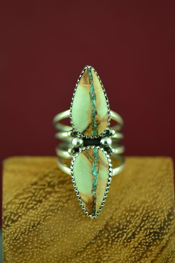 Navajo Indian Sterling Silver Handmade Opal Ring by Yazzie Size 6