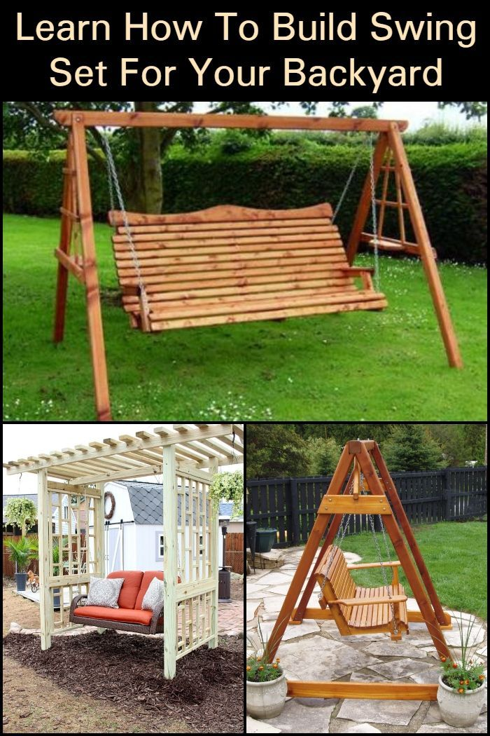 Learn How To Build Swing Seat For Your Backyard in 2020 ...