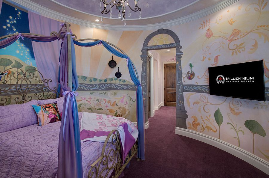 25 Disney Inspired Rooms That Celebrate Color And Creativity Disney Room Designs Disney Themed Bedrooms Disney Bedrooms