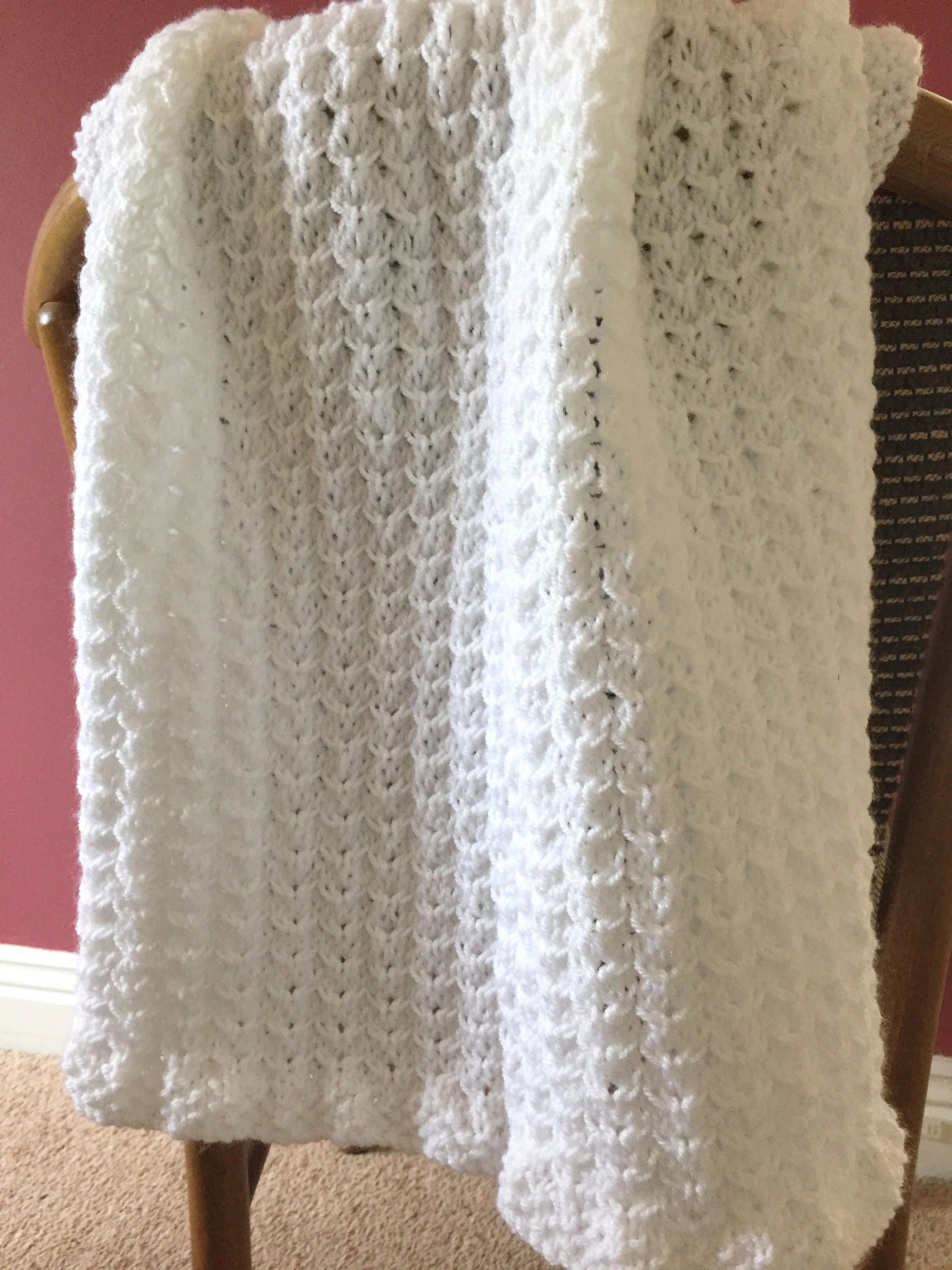 Hand Knitted Dainty Hearts Baby Blanket - White. by DaisyGrayKnits ...