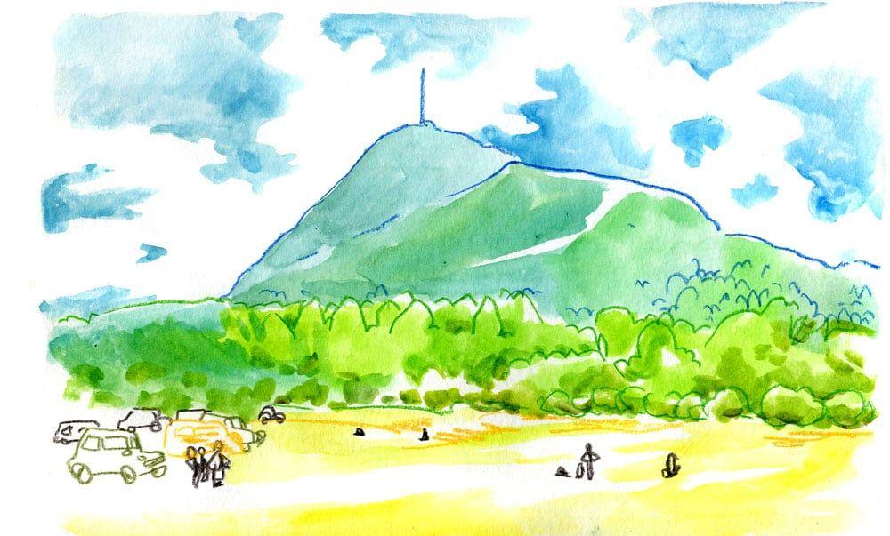 Vol Au Dessus D Un Nid De Volcans Peinture Paysage Puy De Dome