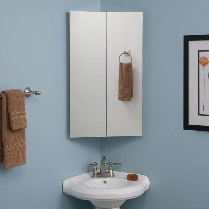 Camargo Stainless Steel Corner Medicine Cabinet Corner Medicine Cabinet Corner Bathroom Mirror Stainless Steel Bathroom