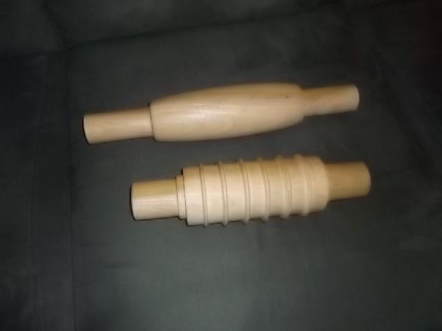 Mulberry Rolling Pins // If your asking yourself about the strange looking one saw that one on here its for cutting your dumplings after rolling them out .