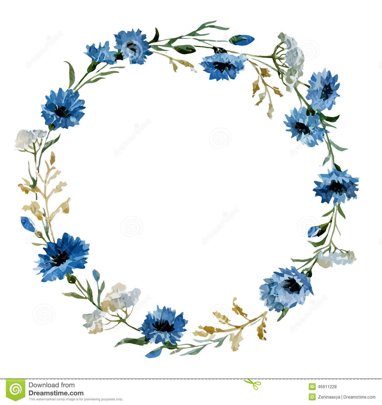 Blue flowers 12 illustration for kids pinterest flowers blue blue flowers 12 izmirmasajfo