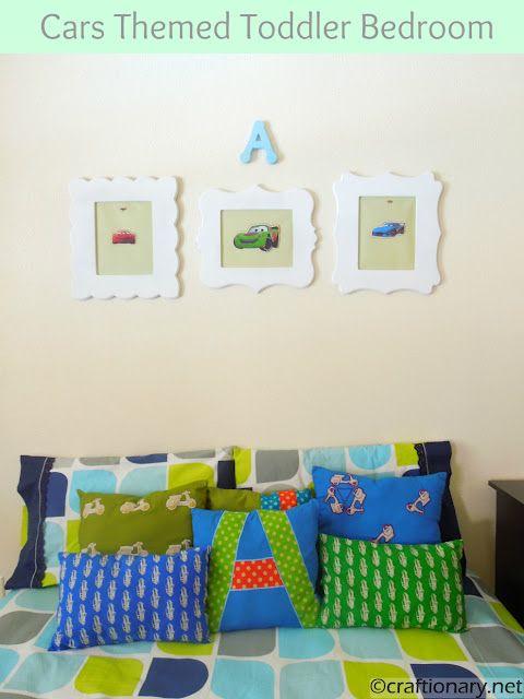 Baby Boy Room Cars: Kids Craft- DIY Boys Room Frames (Tutorial)