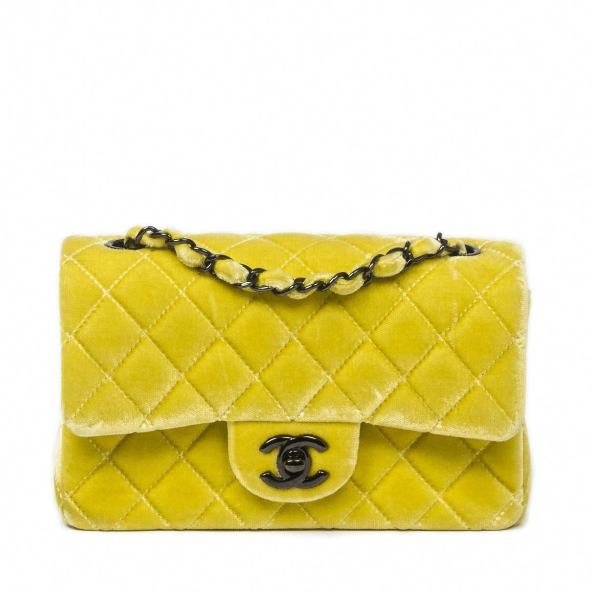 cbb5d6b2a110 Chanel Yellow Timeless Bag | Vestiaire Collective | Best Leather ...