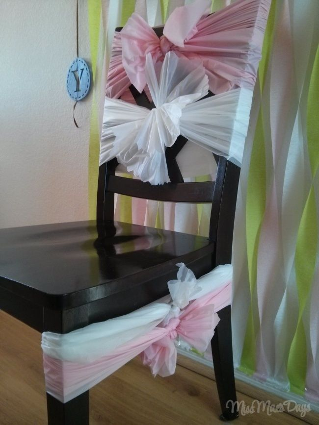 Baby Shower On A Budget By Shopping At The Dollar Store Baby Shower Chair Baby Shower Diy Budget Baby Shower