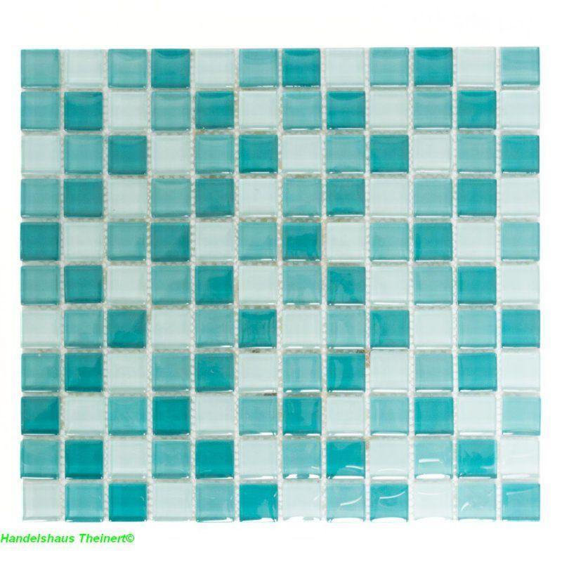 Crystal Glasmosaik grün mix 2,5 x 2,5 cm x 0,8 cm