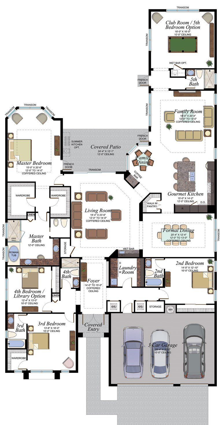 Charleston Grande Plan Florida Real Estate Gl Homes House Blueprints House Layout Plans House Plans