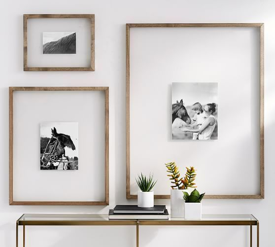 Floating Wood Gallery Frame 11 X 14 White At Pottery Barn In 2020 Gallery Wall Design Gallery Wall Frames Wood Gallery Frames