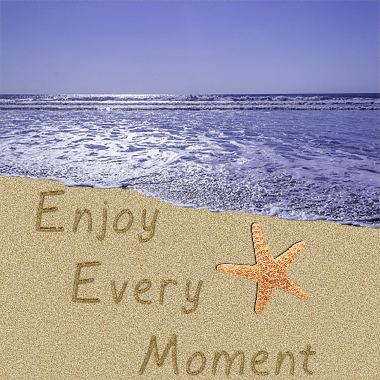 Enjoy Every Moment Beach Wall Art, Beach Decor, Beach Wedding Gift ...