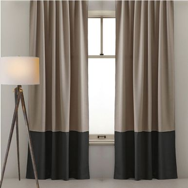 Custom Designed Curtains Two Colour Latte And Black Sorrento