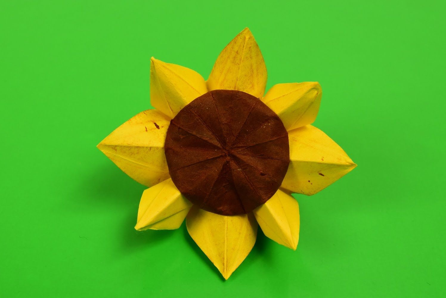 sunflower origami origami pinterest flores de