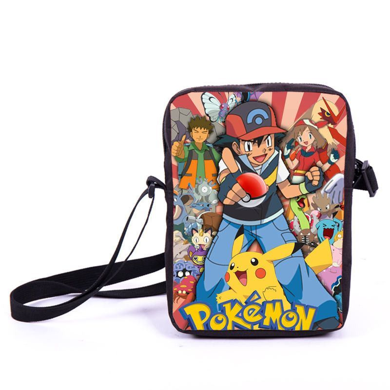 Anime Pokemon Mini Messenger Bag Cartoon Character Pikacun Daily Bag Boys  Girls School Bags Children Bookbag Gift Bags For Kids 9dbee4814dd92