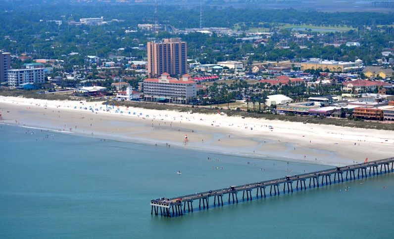 Aerial View Of Jacksonville Beach Florida Trading In The