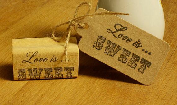 d17f473ba1240 Love is SWEET rubber stamp- 2