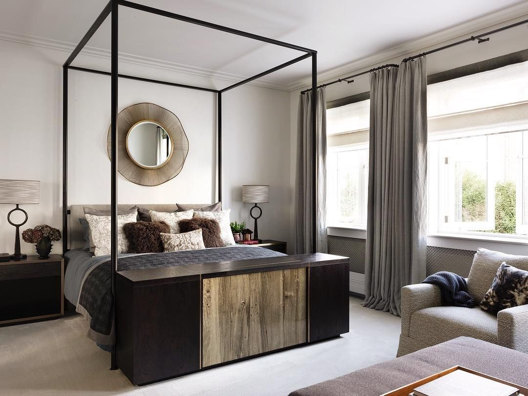 The Monochrome Master Bedroom Of One Of Our London Projects