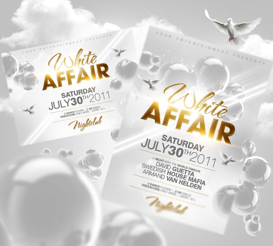 White Affair Flyer PSD by Party-Flyer | Beauty | Pinterest | Party ...