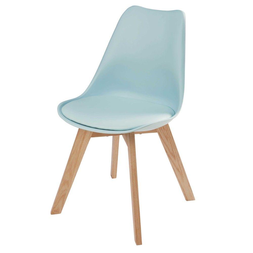 chaise style scandinave bleu clair et ch ne bleu clair chaise bleu et maison du monde. Black Bedroom Furniture Sets. Home Design Ideas
