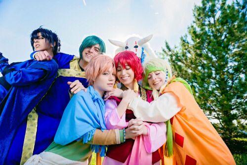 Akatsuki no Yona/Yona of the Dawn cosplay. Yona, Hak, Kiga, Sinha, Jaeha, Yun/Yoon, Suwon, Zeno. #SquadGoals
