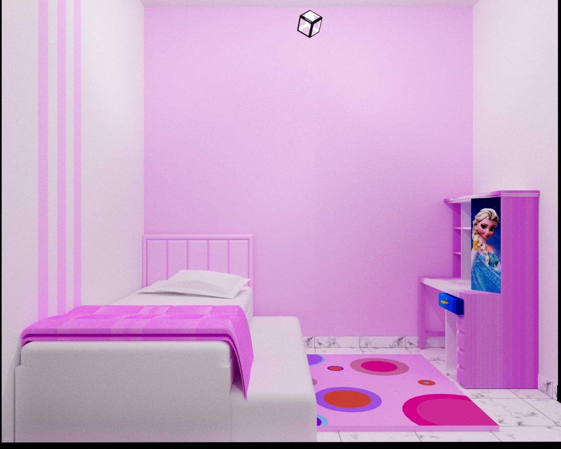 Desain Kamar Tidur Pink Ungu Cek Bahan Bangunan