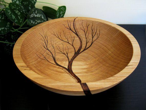 Wooden Bowl Rising Tree Wedding Gift Salad Bowl Beech par KDGArt
