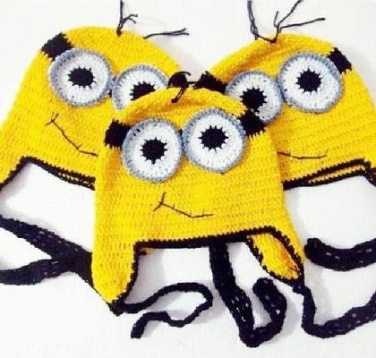 Gehäkelt Minions Mütze Crochetknit Pinterest Häkeln Mütze