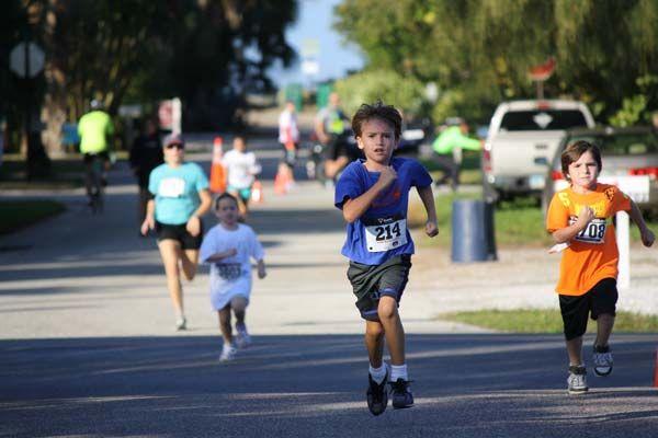 Dolphin Dash /5k run/walk started in  the Anna Maria Elementary School. Parent Teach Organization - sponsors this family fun event
