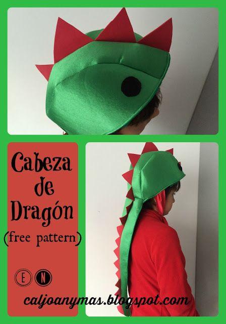 CABEZA DE DRAGON (CAPUCHA-SOMBRERO PARA UN DISFRÁZ MOLÓN)  2fc4afbc028