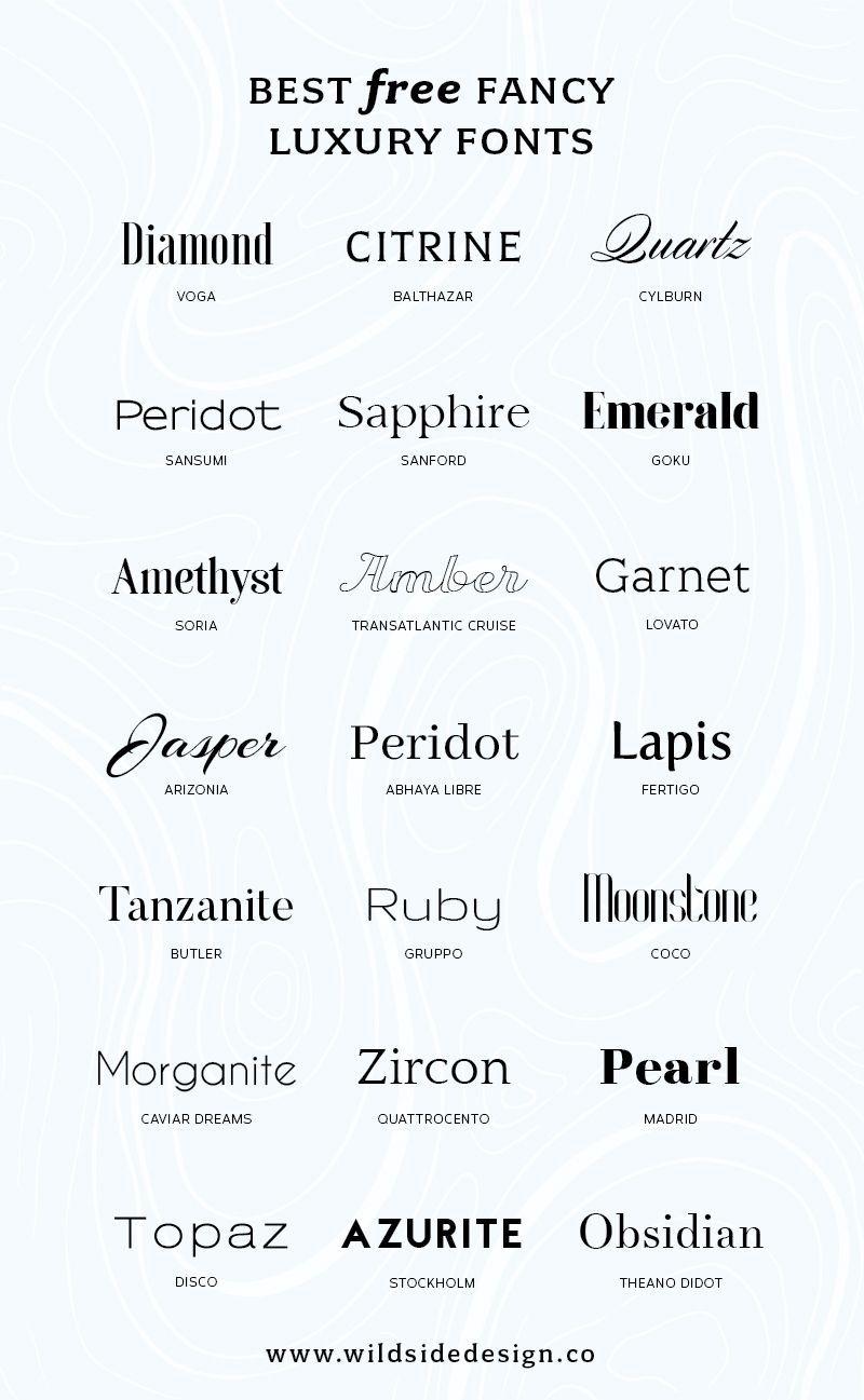 Best Free Luxury Fonts Luxury Font Typography Design Logo Fonts