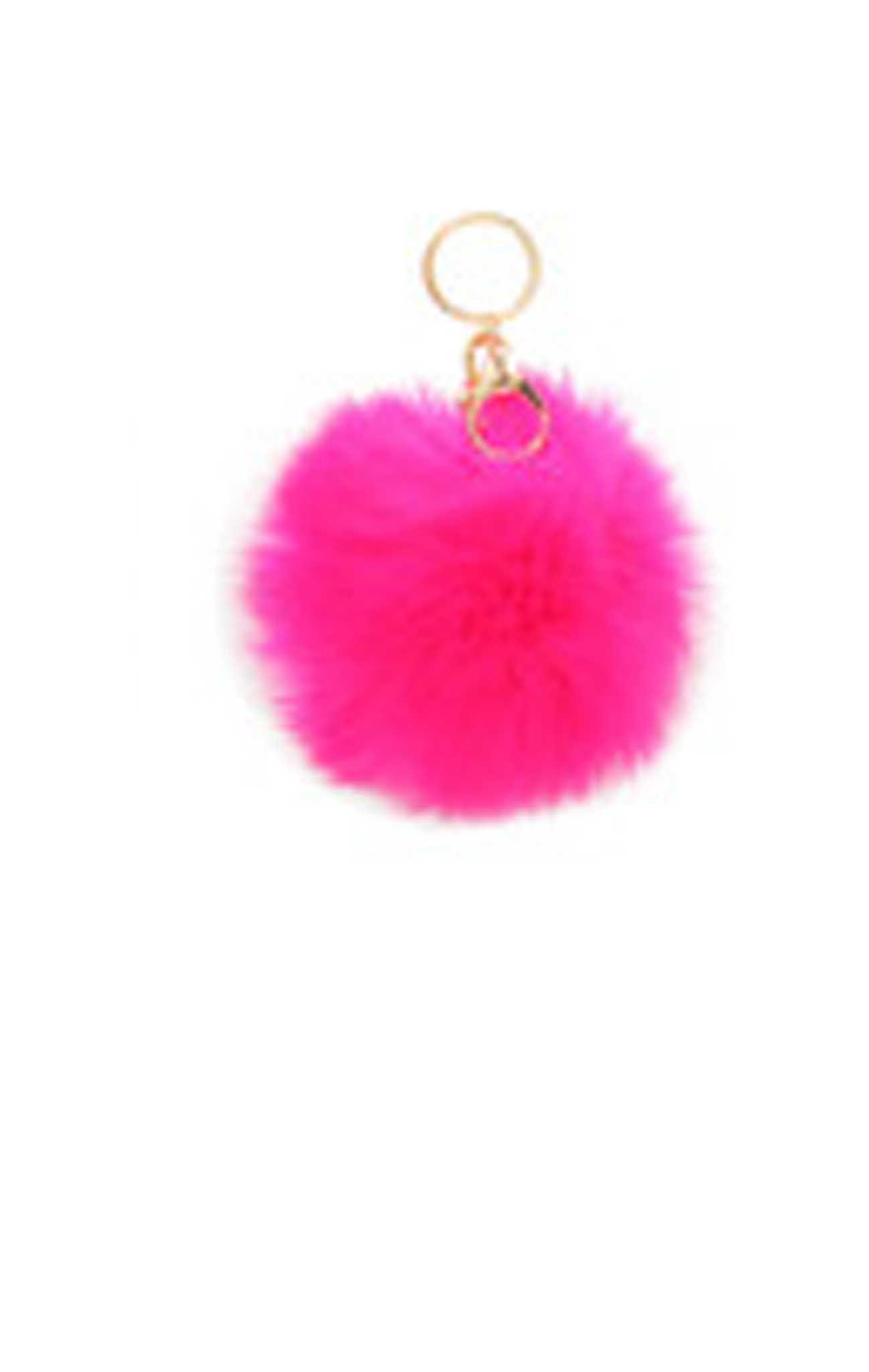 Pom Pom Fur Ball Keychain