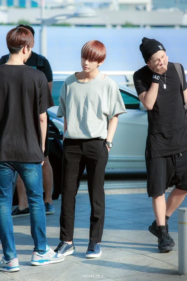 Taehyung and RapMonster