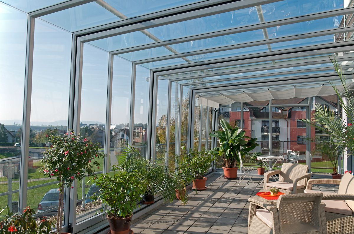 Elegant Patio Enclosure CORSO GLASS Is A High Quality Cover From Alukov,  Filled Completely With