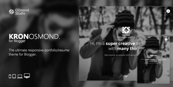 Kronosmond The Ultimate Responsive Portofolio Theme For Blogger - Blogger photography templates professional