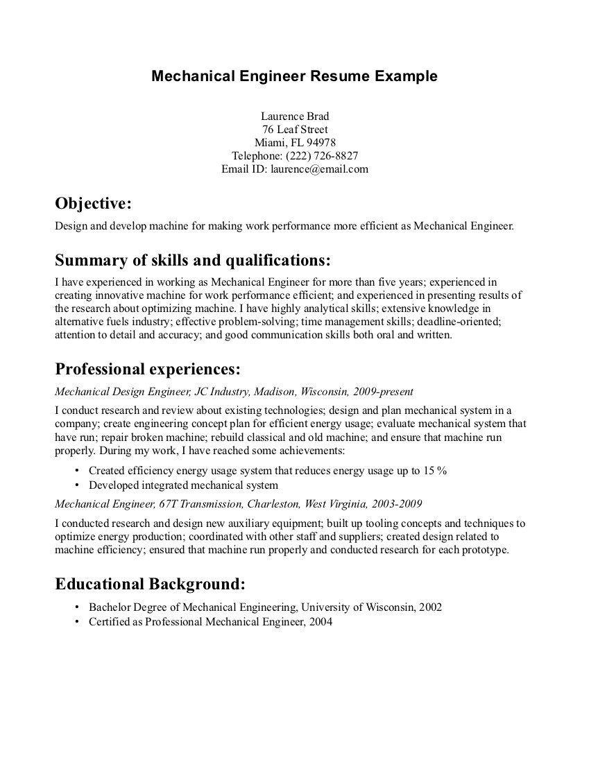 Car Design Engineer Sample Resume Proposal Template Sample Writing Resume Design Engineer Mechanical Top Sles Exle Ca Resume Examples Resume Engineering Resume