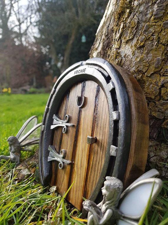 Horseshoe Fairy Door For Home Or Garden Equestrian Gift Fairy