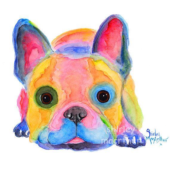French Bulldog Prints Of Original Painting Am I French